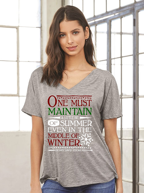 One Must Maintain Slouchy Tee - Vintage Bella+Canvas BC8816