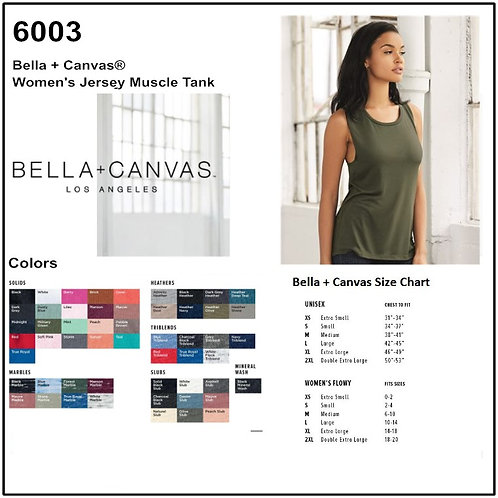 Personalize -Bella Canvas 6003 - Women's Jersey Muscle Tank