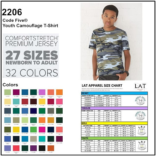 Personalize -Code Five 2206 - Youth Camouflage T-Shirt