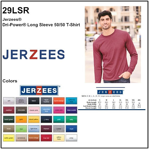 Personalize -JERZEES 29LSR - DRI-POWER Unisex Long Sleeve T-Shirt