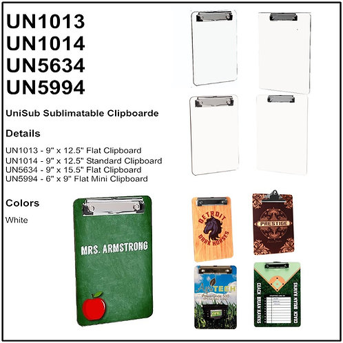 U5634 - UniSub Sublimatable Flat Clipboard