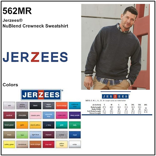 Personalize -JERZEES 562MR - NuBlend Unisex Crew Sweatshirt