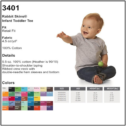 Personalize Rabbit Skins 3401 - Infant Tee