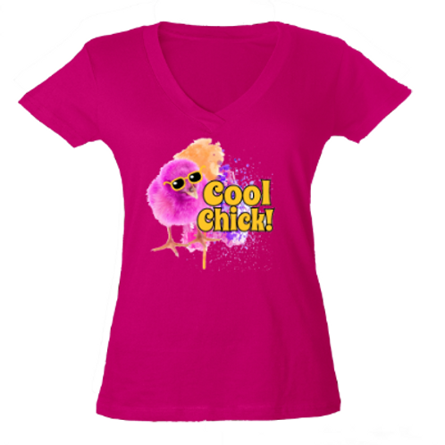 Cool Chick- Cute Tees- Pink