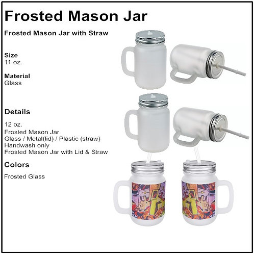 Personalize - Frosted Mason Jar