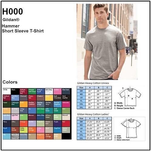 Personalize -Gildan H000 - Hammer Adult T-Shirt