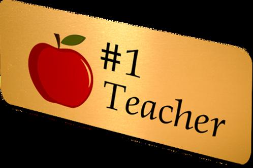 #1 Teacher- Name Badge