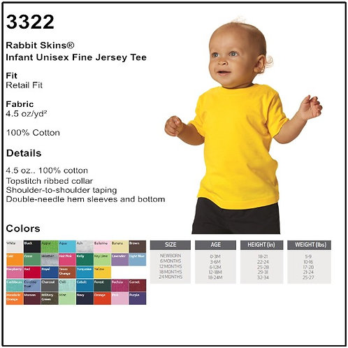 Personalize - Rabbit Skins 3322 - Infant Unisex Fine Jersey T-Shirt