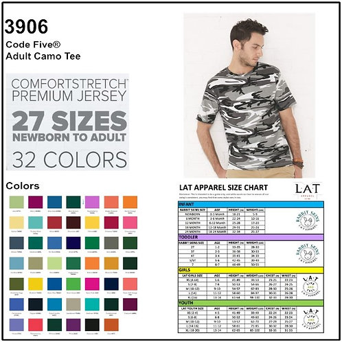 Personalize -Code Five 3906 - Adult Camouflage T-Shirt
