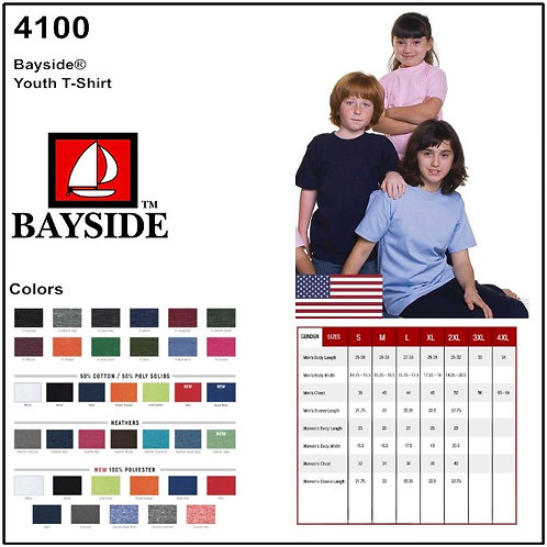 Personalize -Bayside 4100 - Youth Tee