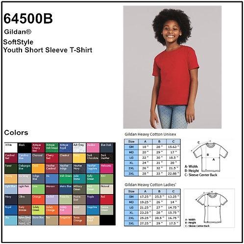 Personalize -Gildan 64500B - Youth Softstyle T-Shirt