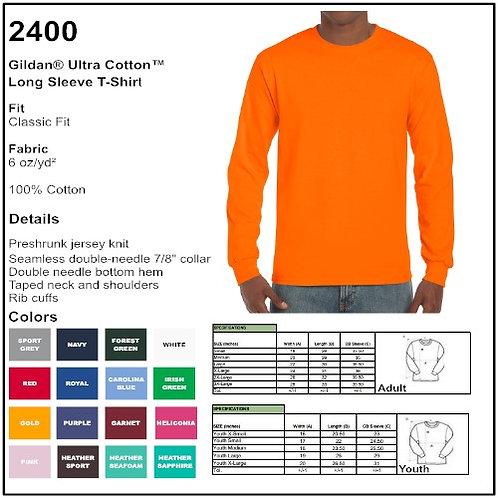 Personalize -Gildan 2400 - Ultra Cotton LS T-Shirt