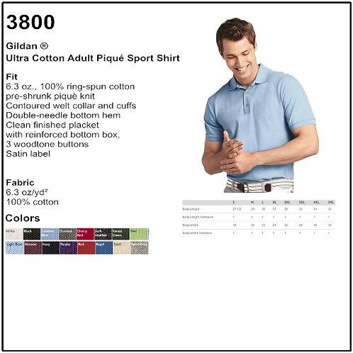 Personalize - Gildan 3800 - Ultra Cotton Adult Pique Sport Shirt