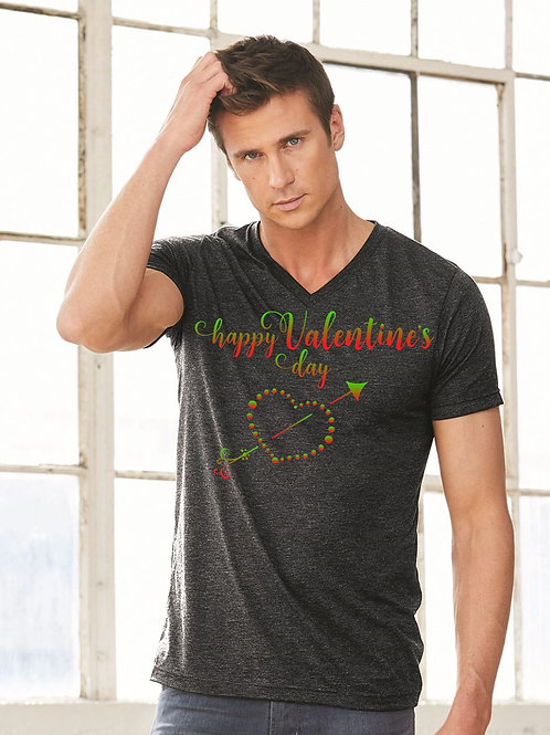 Happy Valentine's Day Tee - Vintage Bella+Canvas BC3415