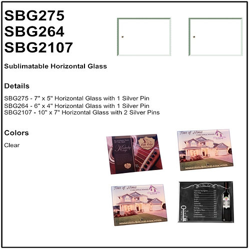 Personalize - Sublimatable Horizontal Glass