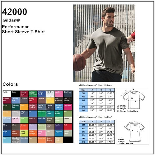 Personalize -Gildan 42000 - Adult Performance T-Shirt