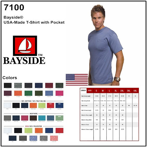 Personalize -Bayside 7100 - USA Made Pocket Tee