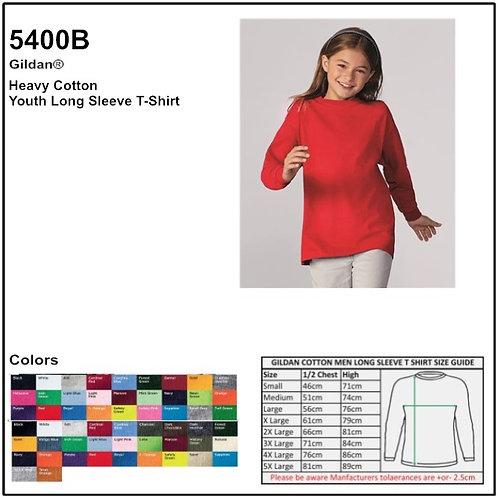 Personalize -Gildan 5400B - Heavy Cotton Youth Long Sleeve T-Shirt