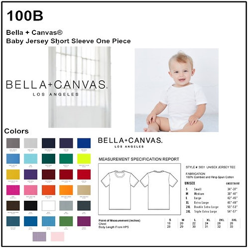 Personalize -Bella+Canvas 100B - Baby Short Sleeve Onesie