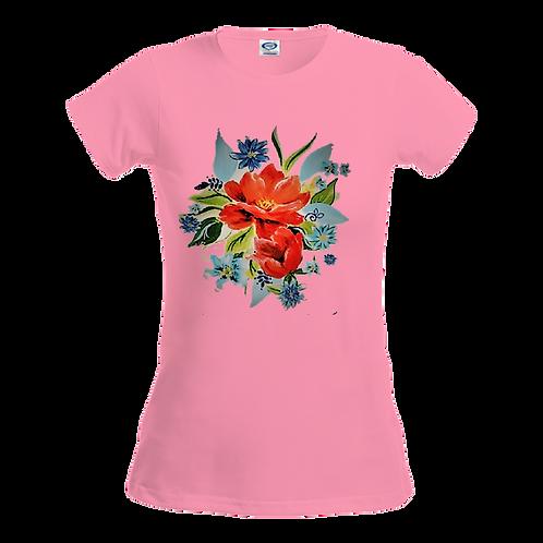 Country Flower Ladies Tee- Front Print