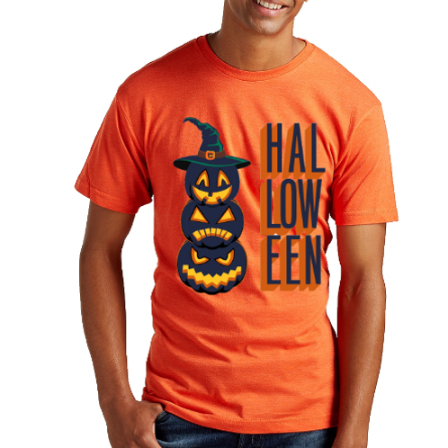 Pumpkin Heads Halloween Unisex Tee