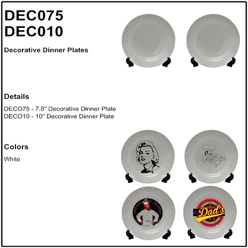 Personalize Dinner Plates