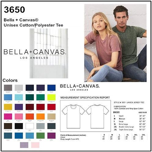 Personalize -Bella Canvas 3650 - Unisex Poly-Cotton Short Sleeve T-Shirt