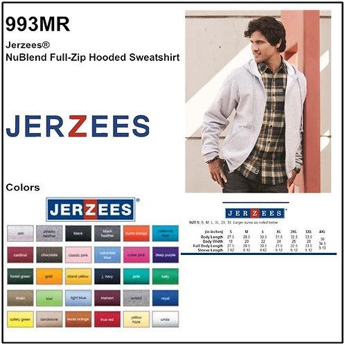 Personalize -JERZEES 993MR - NuBlend Unisex Full-Zip Hooded Sweatshirt