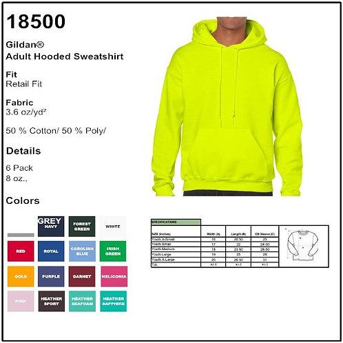 Personalize -Gildan 18500 - Adult Hooded Sweatshirt
