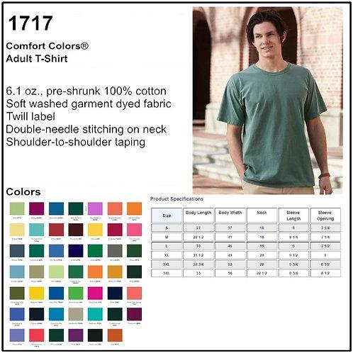 Personalize -Comfort Colors 1717 - Adult T-Shirt