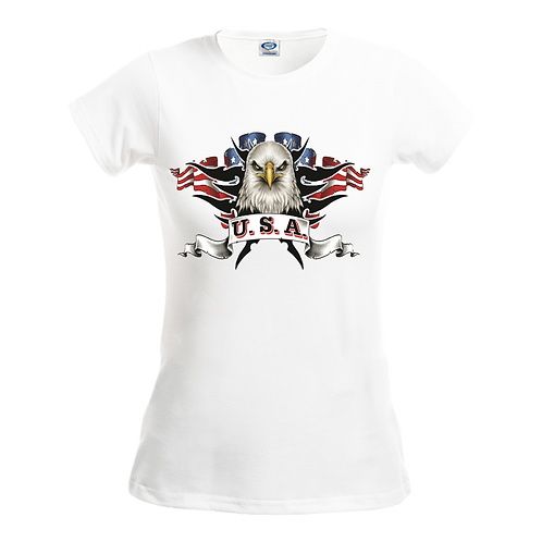 Gildan 42000L - Performance Ladies' T-Shirt- Patriotic