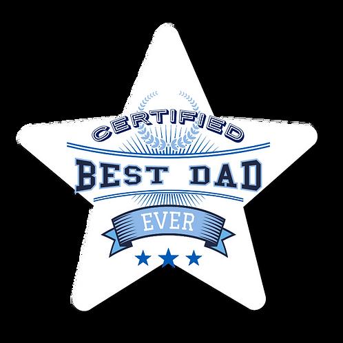Certified Best Dad- Award