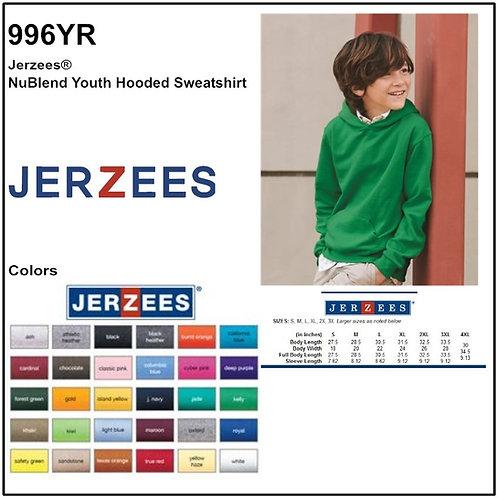 Personalize -JERZEES 996YR - NuBlend Youth Hooded Sweatshirt