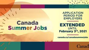 Canada Summer Jobs — Application Deadline Extended