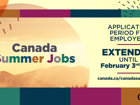 Canada Summer Jobs — Application Deadline Extended