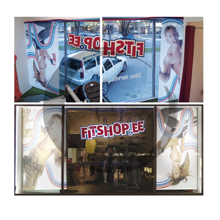 Fitshop kaupluse vaateaken