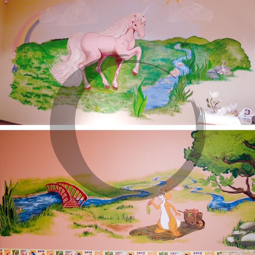 seinamaalingud lastetubadesse
