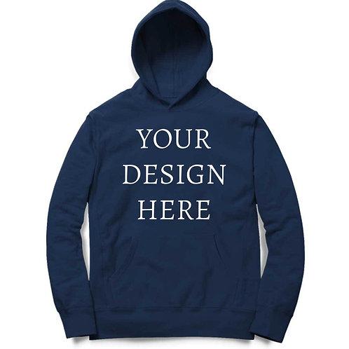 Personalised Navy Blue Hoodie