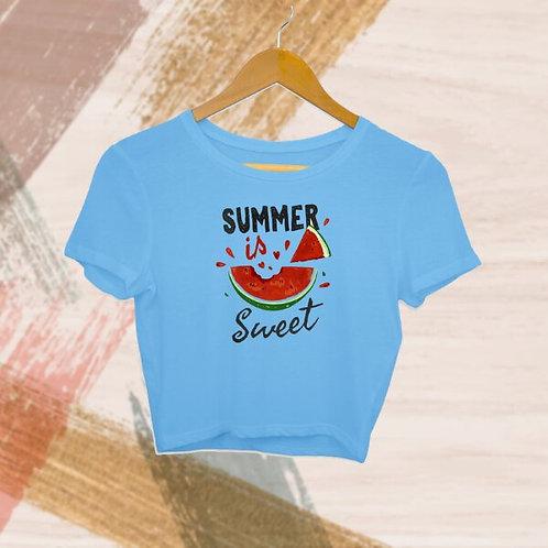 Summer Is Sweet Crop Top