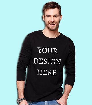 Personalised Men's Full Sleeve T-Shirt