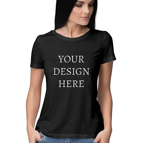 Women's Personalised Black T-Shirt
