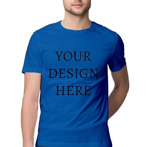 Men's Personalised Royal Blue Half Sleeve T-Shirt