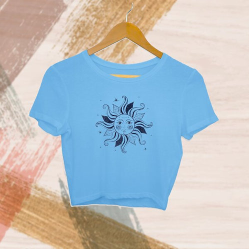 Sunflower Face Crop Top