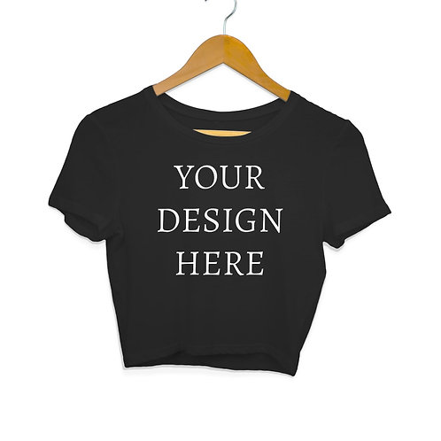 Women's Personalised Black Crop Top