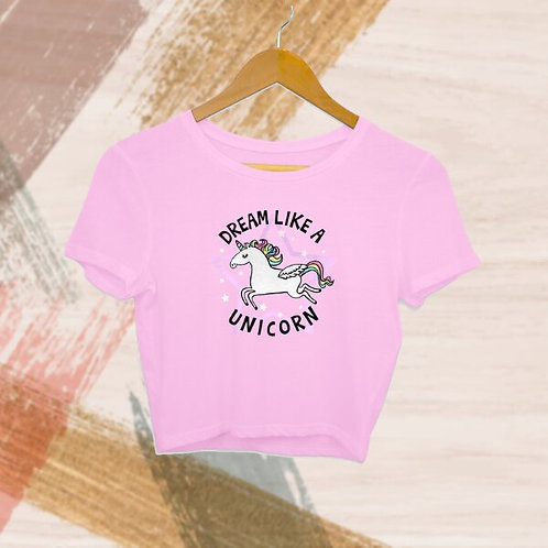 Dream Like A Unicorn Crop Top