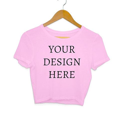 Women's Personalised Light Pink Crop Top