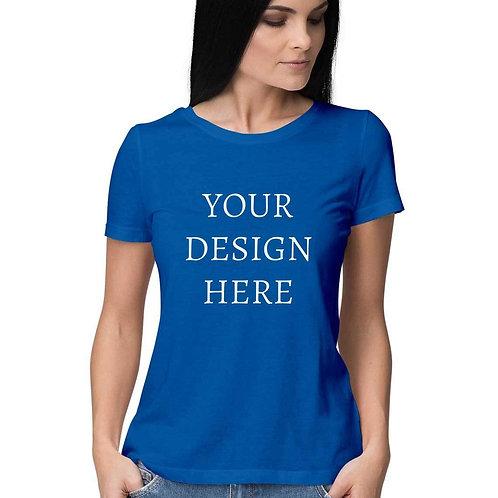 Women's Personalised Royal Blue T-Shirt
