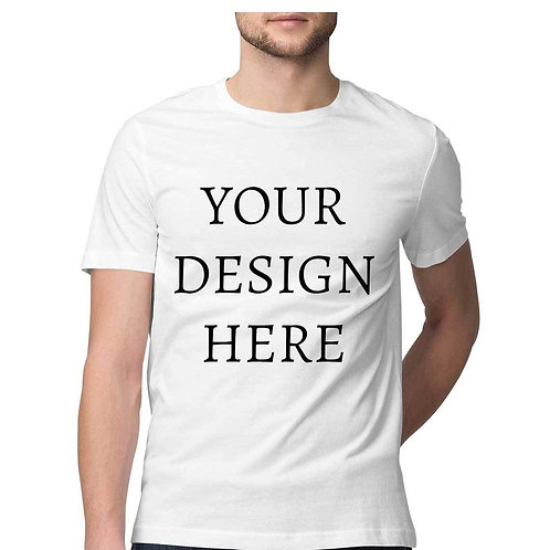 Men's Personalised White Half Sleeve T-Shirt
