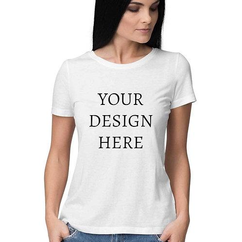 Women's Personalised White T-Shirt