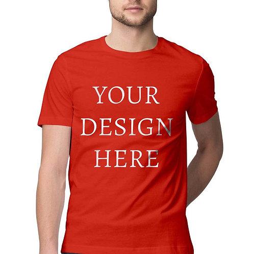Men's Personalised Red Half Sleeve T-Shirt